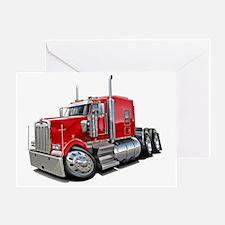 Kenworth w900 Red Truck Greeting Card