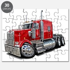 Kenworth w900 Red Truck Puzzle