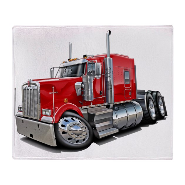 Kenworth w900 Red Truck Throw Blanket by Admin_CP15844698