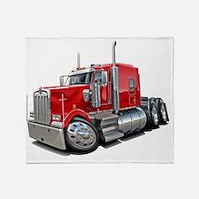 Kenworth w900 Red Truck Throw Blanket