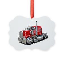 Kenworth w900 Red Truck Ornament