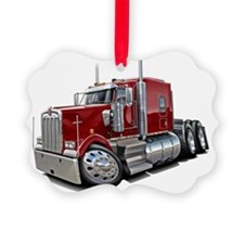 Kenworth w900 Maroon Truck Ornament