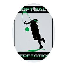 Softball 31 Oval Ornament