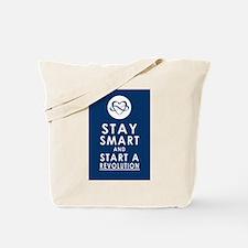 LOVE REVOLUTION Deep Blue Tote Bag