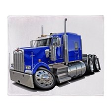 Kenworth w900 Blue Truck Throw Blanket