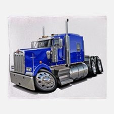 Kenworth w900 Blue Truck Throw Blanket