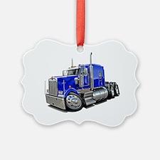 Kenworth w900 Blue Truck Ornament
