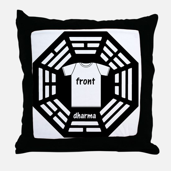 dharma tee front copy Throw Pillow