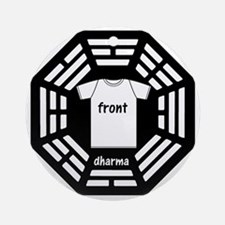 dharma tee front copy Round Ornament