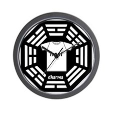 dharma tee front copy Wall Clock
