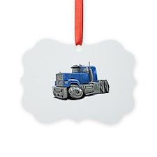 Mack Superliner Lt Blue Truck Ornament