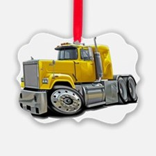 Mack Superliner Yellow Truck Ornament