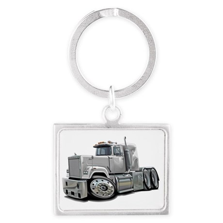 Mack Superliner White Truck Landscape Keychain