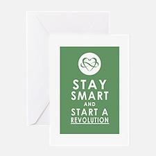 LOVE REVOLUTION Olive Green Greeting Card