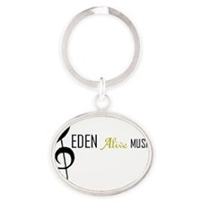 Eden alive logo Oval Keychain