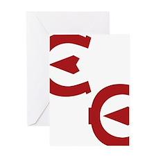 EE logo red Greeting Card