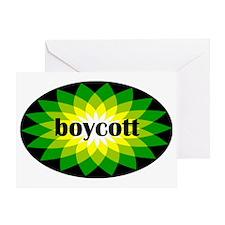 2-bpboycott black sticker Greeting Card