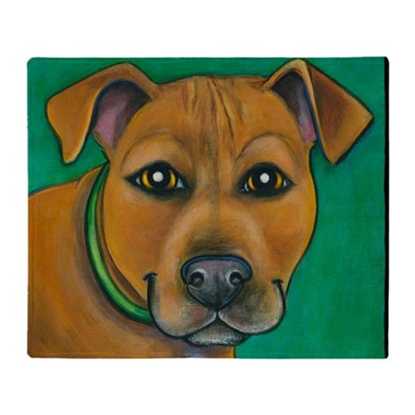 Pit Bull Mix Toby Throw Blanket