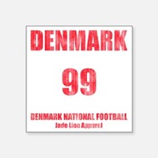 "Denmark football vintage Square Sticker 3"" x 3"""