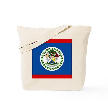 Belize Nal flag Tote Bag