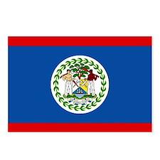 Belize Nal flag Postcards (Package of 8)