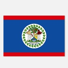 Belize Nal flag Postcards (Package of 8)