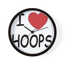 love HOOPS01 Wall Clock
