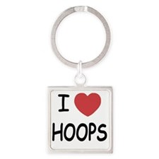 love HOOPS01 Square Keychain