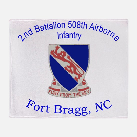 2nd Bn 508th ABN Throw Blanket