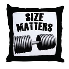 size-matters Throw Pillow