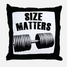 size-matters Throw Pillow