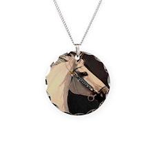(3)Equine Tile (Jade) Necklace