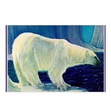 Bear 4 New Heather Blue ( Postcards (Package of 8)