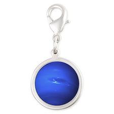 neptune Silver Round Charm