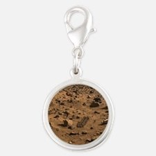 mars-surface Silver Round Charm