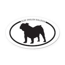 Olde-English-Bulldog Oval Car Magnet