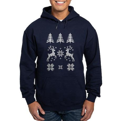 Moose Christmas Pattern Hoodie
