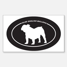 Olde-English-Bulldog Sticker (Rectangle)