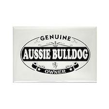 Aussie-Bulldog Rectangle Magnet