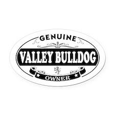 Valley-Bulldog Oval Car Magnet