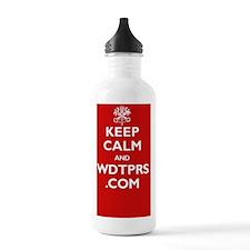 keep_calm_wdtprs_06_wh Water Bottle