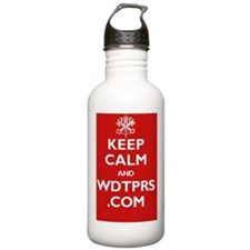 keep_calm_wdtprs_06_wh Water Bottle