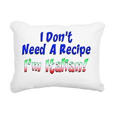 Im Italian Funny Apron Rectangular Canvas Pillow