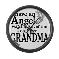 grandma angel Large Wall Clock