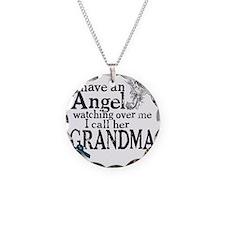 grandma angel Necklace Circle Charm