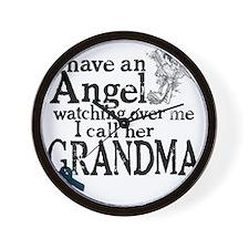 grandma angel Wall Clock