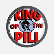 king of the pill copy Wall Clock