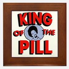 king of the pill copy Framed Tile