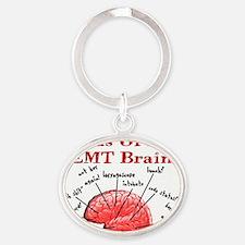 Atlas Of An EMT Brain Oval Keychain