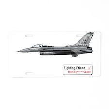 fighting_falcon_f16_555_fs_ Aluminum License Plate
